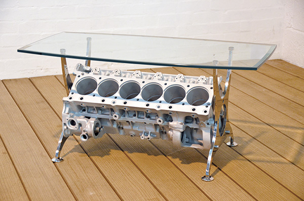 V12 Hart Engine Block Table